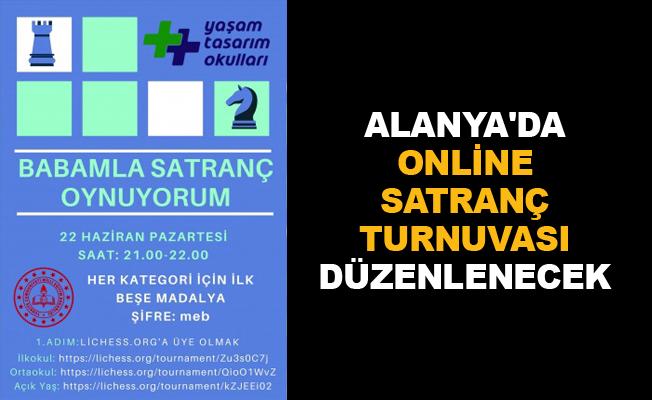 Alanya'da online satranç turnuvası düzenlenecek