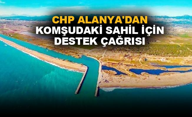 CHP Alanya'dan komşudaki sahil için destek çağrısı