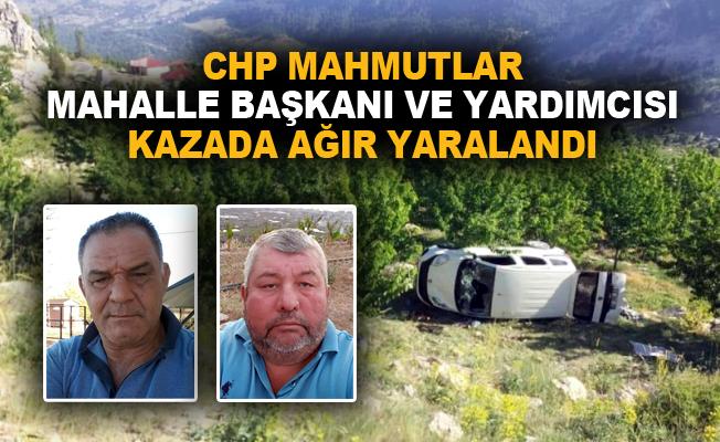 CHP Mahmutlar Mahalle Başkanı ve yardımcısı kazada ağır yaralandı