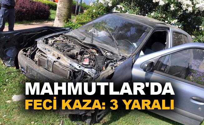 Mahmutlar'da feci kaza: 3 yaralı