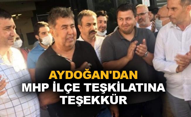 Kerim Aydoğan'dan MHP İlçe Teşkilatı'na teşekkür