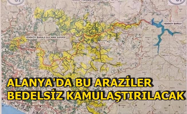 Alanya'da bu araziler bedelsiz kamulaştırılacak