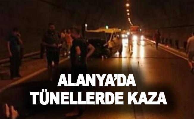 Alanya'da tünellerde kaza