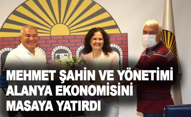 Mehmet Şahin ve yönetmi, Alanya ekonomisini masaya yatırdı