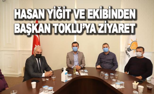 Hasan Yiğit ve ekibinden Başkan Toklu'ya ziyaret