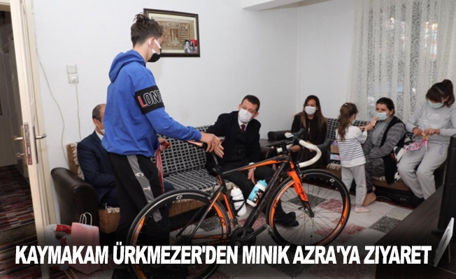 Kaymakam Ürkmezer'den minik Azra'ya ziyaret