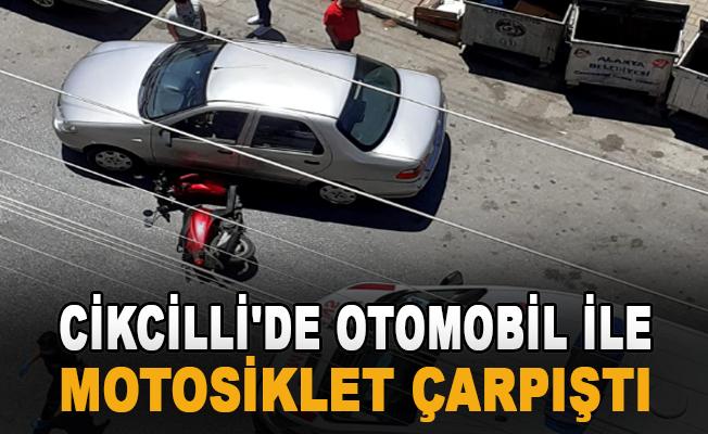 Alanya Cikcilli'de otomobil ile motosiklet çarpıştı: 2 yaralı