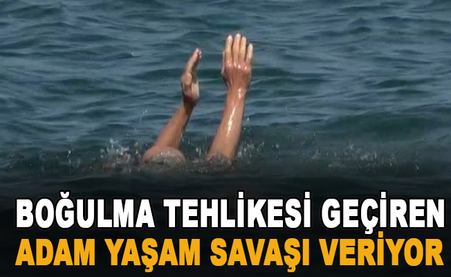 Alanya'da denizde boğulma tehlikesi geçiren adam yaşam savaşı veriyor