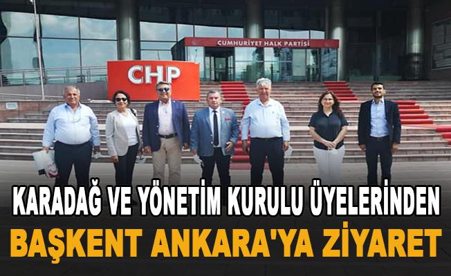 Karadağ ve yönetim kurulu üyelerinden başkent Ankara'ya ziyaret