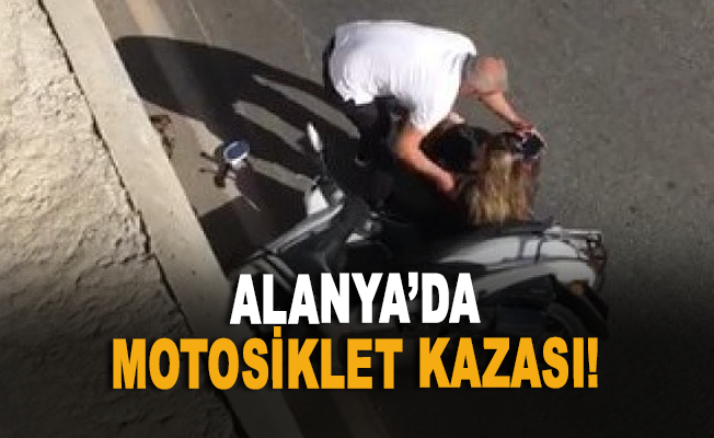 Alanya'da motosiklet kazası!