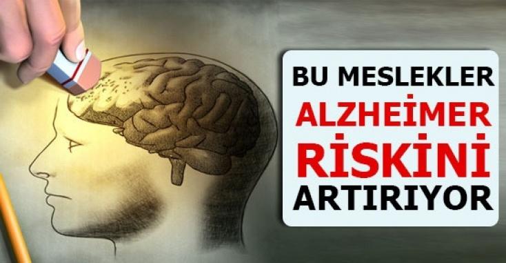 Bu meslekler Alzheimer riskini artırıyor
