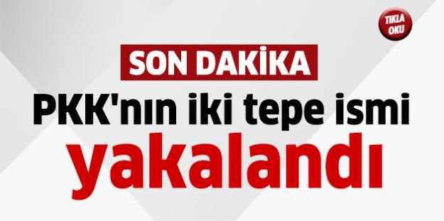 PKK'nın iki tepe ismi yakalandı