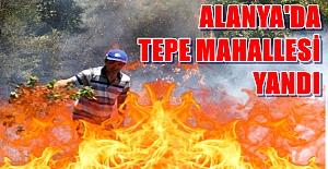 Alanya Tepe Mahallesinde Yangın Çıktı