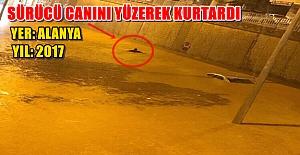 bAlanya#039;da Araç Su Altında Kaldı/b