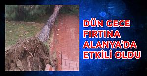 Alanya'da Fırtına Çıktı