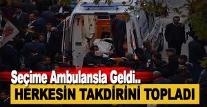 Alanya'da Seçimlere Ambulansla Geldi
