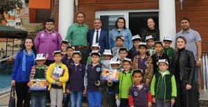 Minik öğrencilerden Çocuk Büro Amirliğine ziyaret