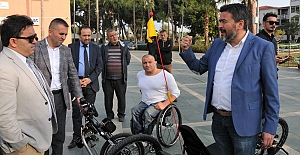Alanya'da 'Hand Bike' engelleri kaldıracak