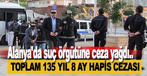Alanya#039;da suç örgütüne ceza...