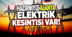 Alanya#039;da Elektrik Kesintisi