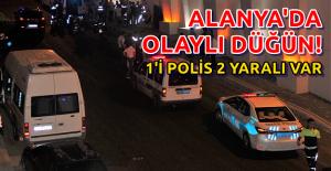 Alanya#039;da Düğünde 2 Kişi Yaralandı