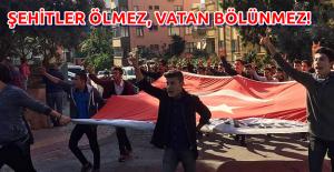 Alanya'da Ülkücü Gençler Şehit Evine Yürüdüler