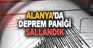 Alanya#039;da Deprem Paniği