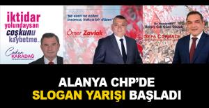 Alanya CHP'de slogan yarışı başladı