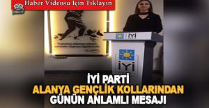 Alanya İYİ Parti'den işaret dili ile videolu mesajlar