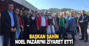 Mehmet Şahin, Alanya Noel Pazarı'nı ziyaret etti