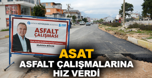 ASAT asfalt çalışmalarına hız verdi
