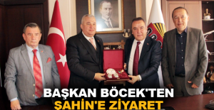 Başkan Böcek'ten Şahin'e ziyaret