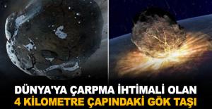 Dünya'ya çarpma ihtimali olan 4 Kilometre çapındaki Gök Taşı