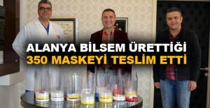 Alanya BİLSEM ürettiği 350 maskeyi teslim etti