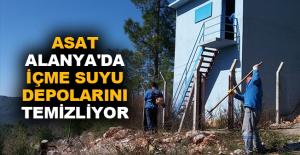 ASAT Alanya'da içme suyu depolarını temizliyor