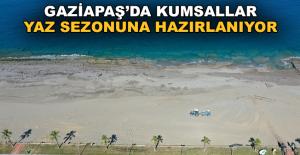 Gazipaşa kumsalları yaz sezonuna hazırlanıyor