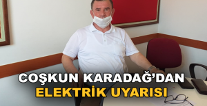 Karadağ'dan Elektrik Uyarısı