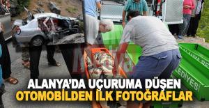 Alanya yaylasındaki otomobil kazasından ilk fotoğraflar