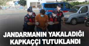 Alanya'da jandarmanın yakaladığı kapkaççı tutuklandı