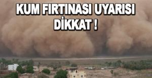 Antalya İçin kum fırtınası uyarısı