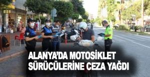 Alanya'da kurallara uymayan motosiklet sürücülerine ceza yağdı
