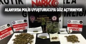 Alanya'da polis uyuşturucu tacirlerine göz açtırmıyor!