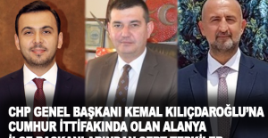 CHP Genel Başkanı Kemal Kılıçdaroğlu'na Cumhur İttifakında olan Alanya İlçe Başkanlarından Sert Tepkiler