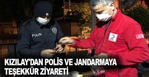Kızılay'dan Polis ve Jandarmaya Teşekkür Ziyareti