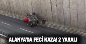 Alanya'da feci kaza! 2 yaralı
