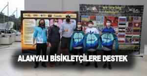Alanyalı bisikletçilere destek