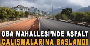 Oba Mahallesi'nde asfalt çalışmalarına başlandı