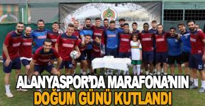 Alanyaspor'da Marafona'nın doğum günü kutlandı