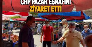 CHP Pazar Esnafını Ziyaret Etti