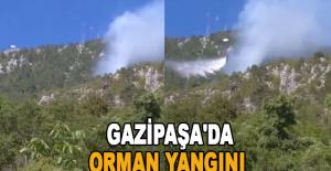 Gazipaşa#039;da Orman Yangını
